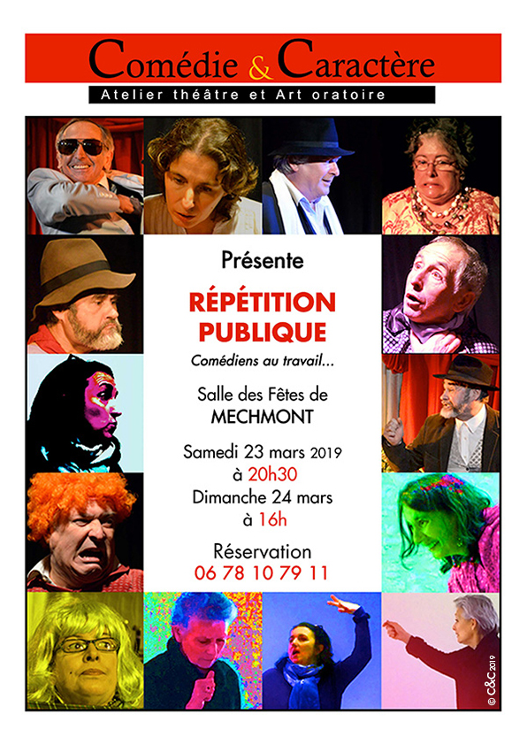 Affiche-Repetition-publique-comedie-et caracteres-Mechmont-2019-Joelle-Lacourt